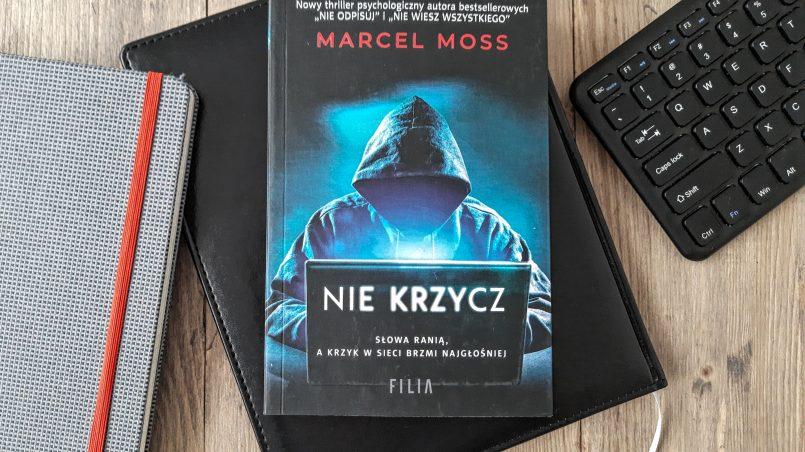 """okładka książki """"Nie krzycz"""" Marcel Moss"""
