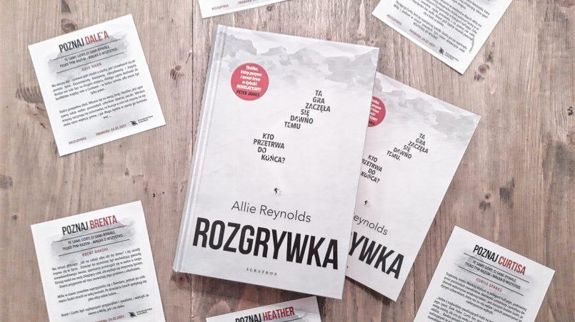 """okładka książki """"Rozgrywka"""" Allie Reynolds"""