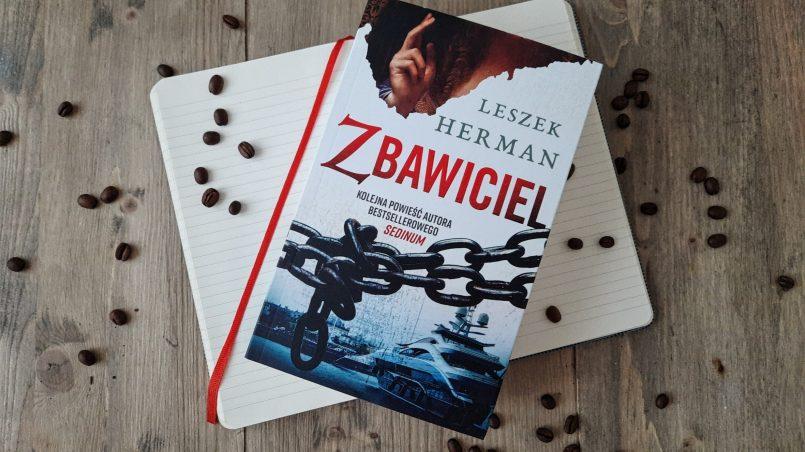 """okładka książka """"Zbawiciel"""" Leszek Herman"""