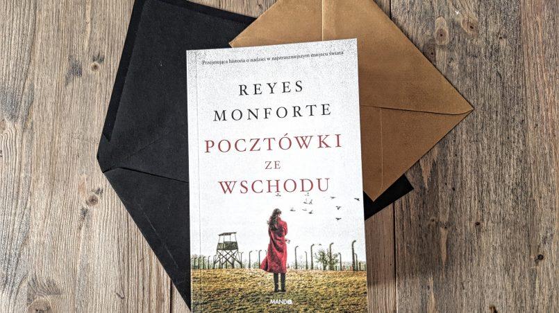 """okładka książki """"Pocztówki ze Wschodu"""" Reyes Monforte"""